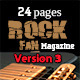 24 Pages Rock Fan Magazine Version Three - GraphicRiver Item for Sale