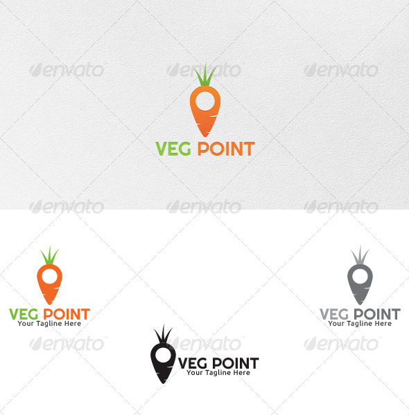 Vegetable Point - Logo Template - Food Logo Templates