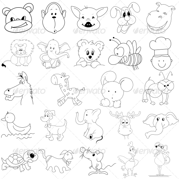 Kids Toys Vector Designs Pack - Characters Vectors