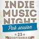 Indie Music Night Flyer / Poster (1) - GraphicRiver Item for Sale