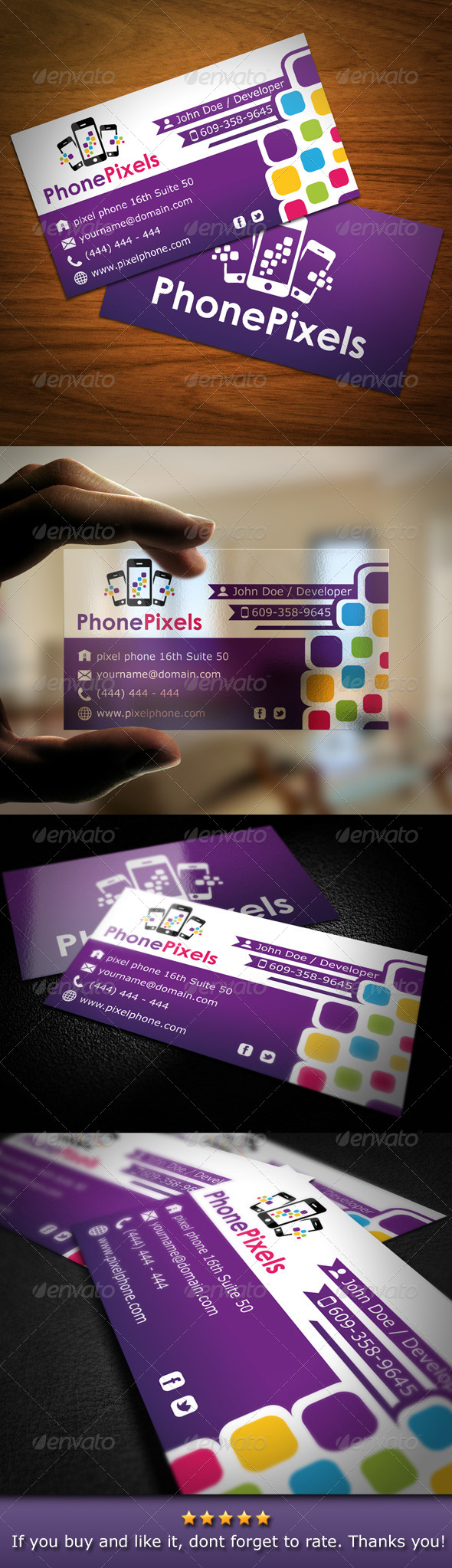 Smartphone Business Card - Industry Specific Business Cards