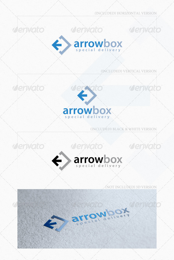 Arrow Box Logo - Symbols Logo Templates
