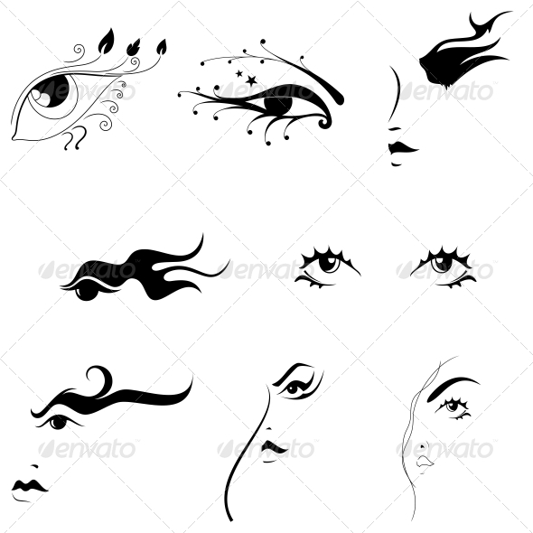 Creative Eyes Artistic Designs Vector Pack - Miscellaneous Vectors