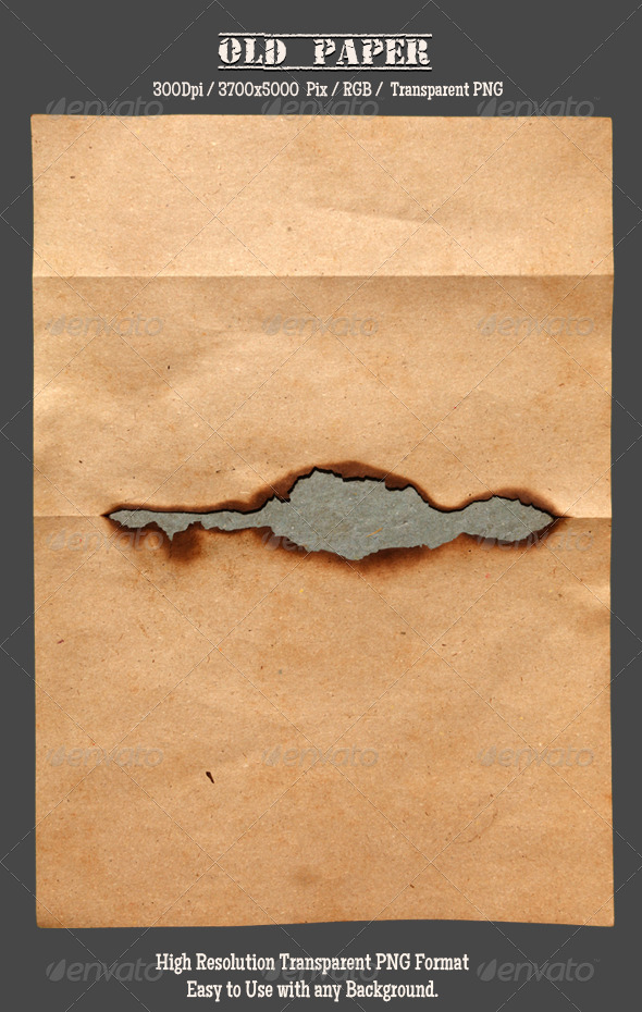 Burnt Old Paper 3 - Isolated Objects
