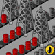 Isometric Oil Towers in Production - GraphicRiver Item for Sale