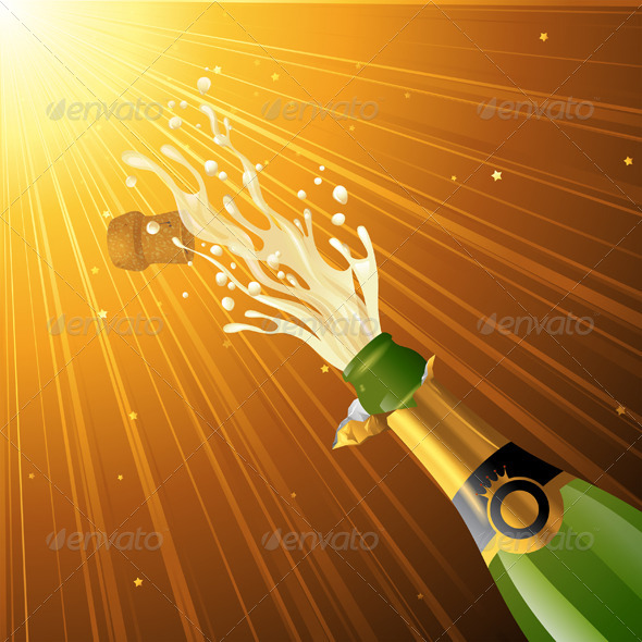 Splashing Champagne - Miscellaneous Conceptual