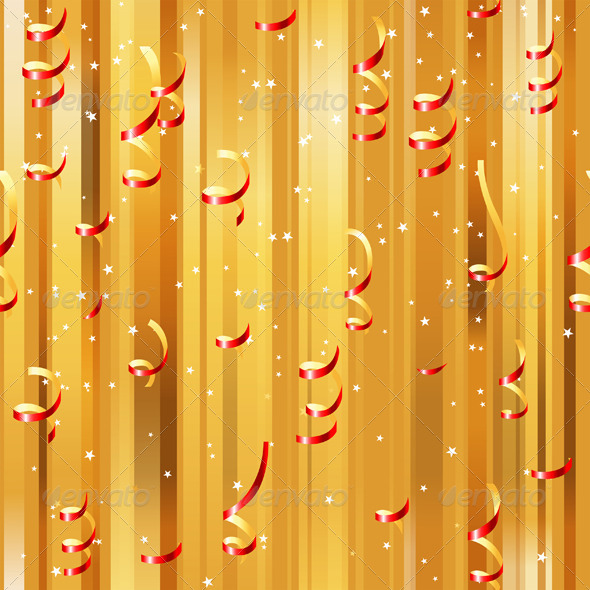 Red Paper Streamers Seamless - Patterns Decorative
