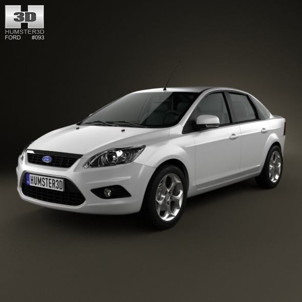 Ford Focus sedan 2008 - 3DOcean Item for Sale