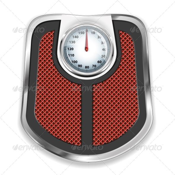 Bathroom Scale Vector Illustration - Health/Medicine Conceptual