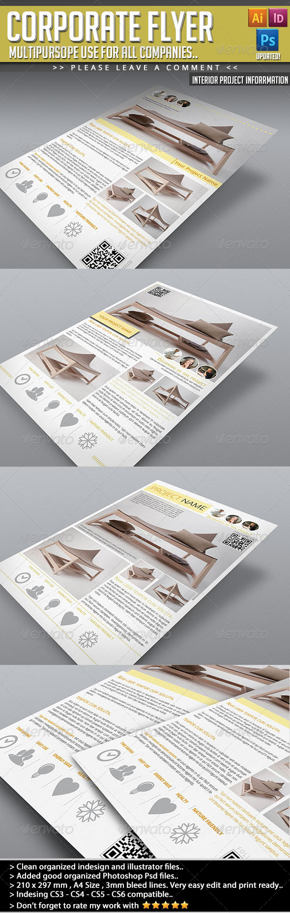 Corporate Flyer - Interior Project Information - Corporate Flyers