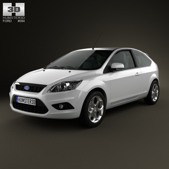 Ford Focus hatchback 3-door 2008 - 3DOcean Item for Sale