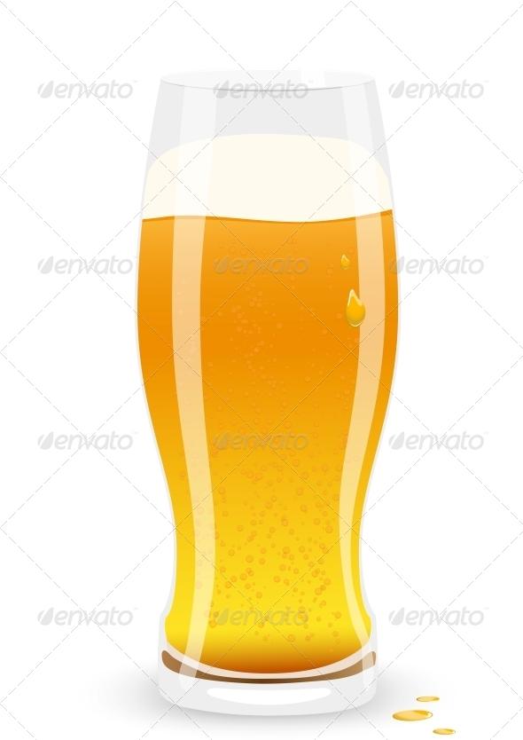 Lager Beer. Vector Illustration. - Decorative Symbols Decorative