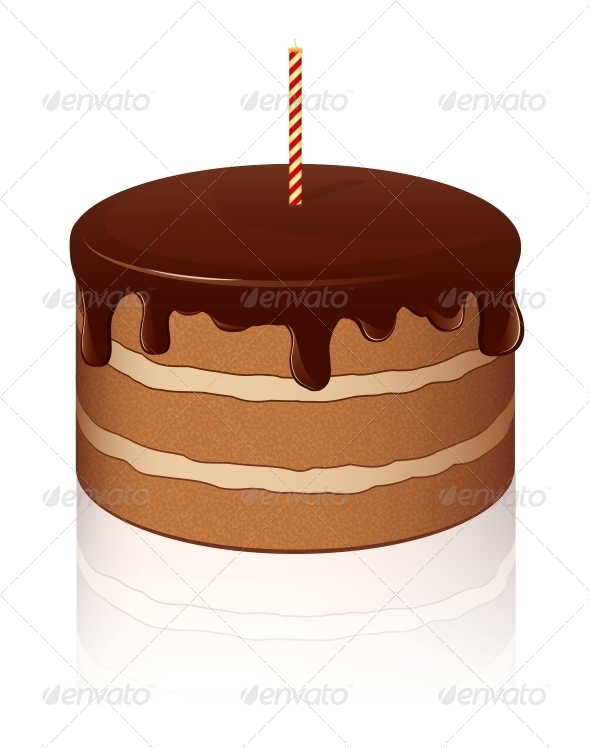 Vector Chocolate Cake - Birthdays Seasons/Holidays