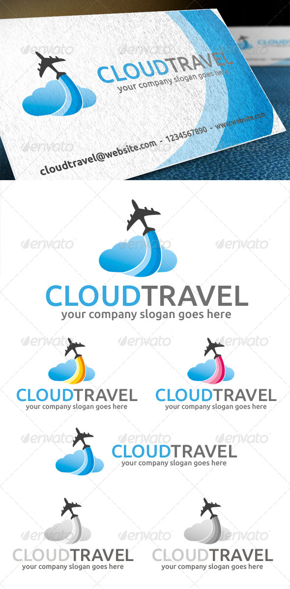 Cloud Travel Logo - Objects Logo Templates