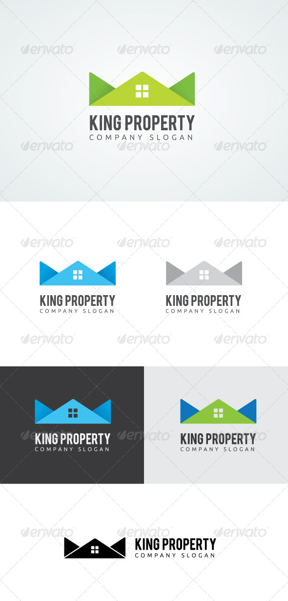 King Property Logo - Buildings Logo Templates