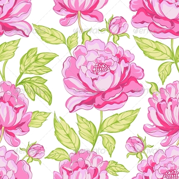 Seamless Floral Pattern - Flowers & Plants Nature