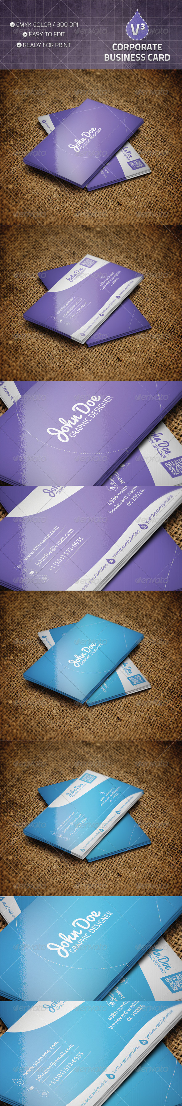 Corporate Business Card V3 - Corporate Business Cards