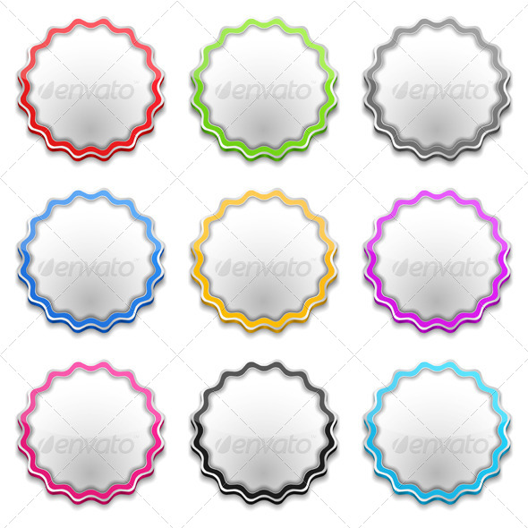 Blank Price Tags - Web Elements Vectors