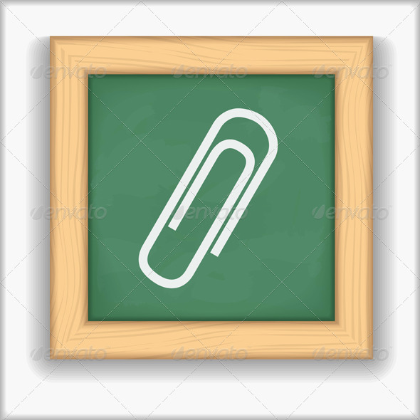 Paper Clip Icon - Web Elements Vectors