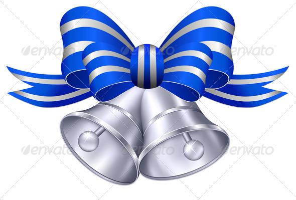 Silver Wedding Bells - Decorative Symbols Decorative