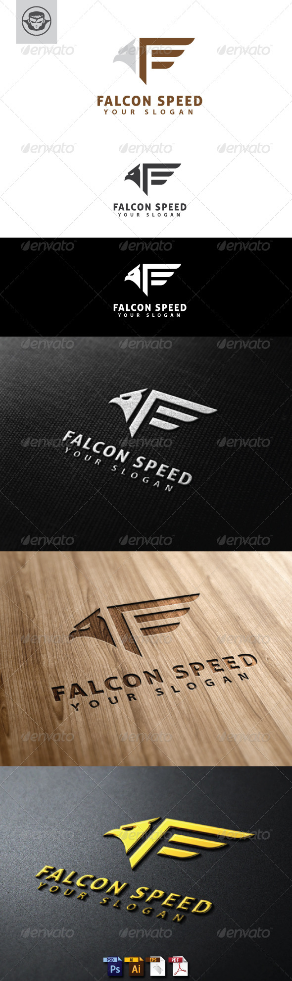 Falcon Speed Logo Template - Animals Logo Templates