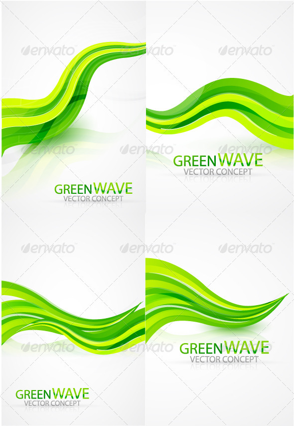 Green waves background - Backgrounds Business