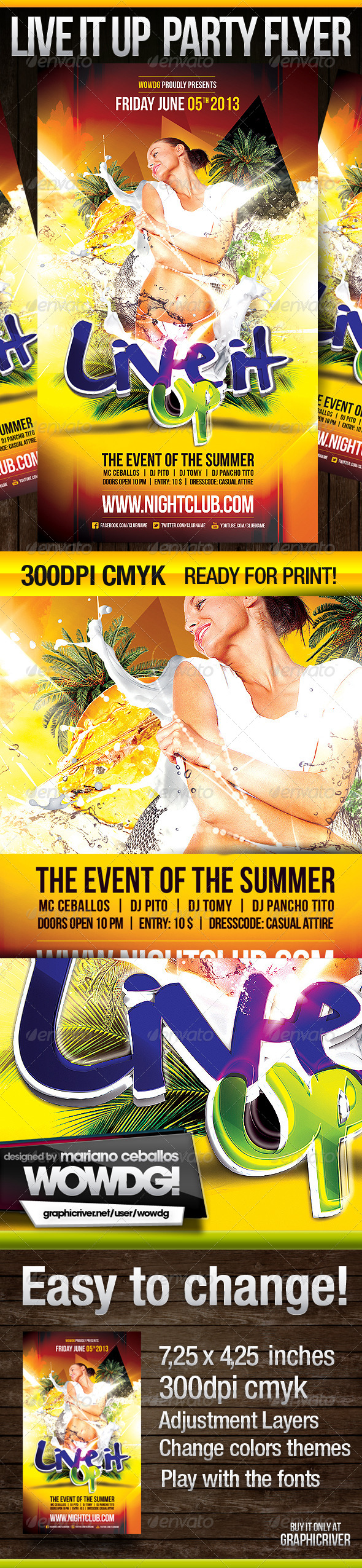 Live It Up - Events Flyers