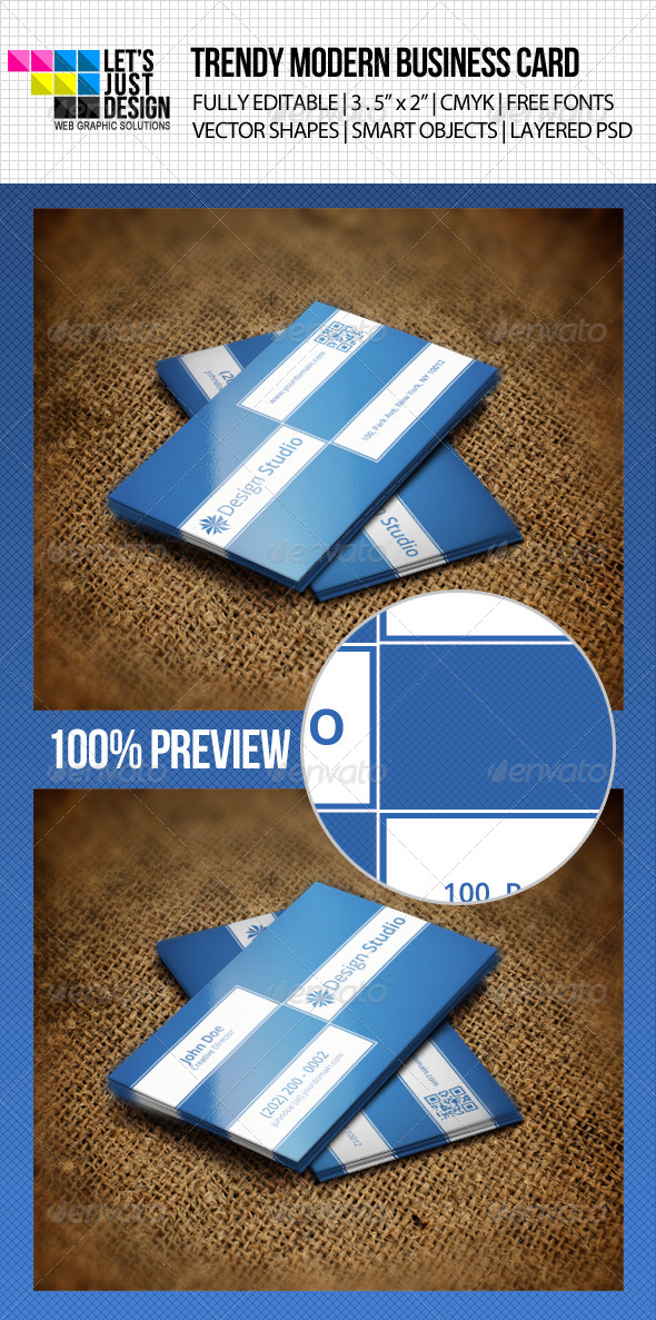Trendy Modern Business Card - Creative Business Cards