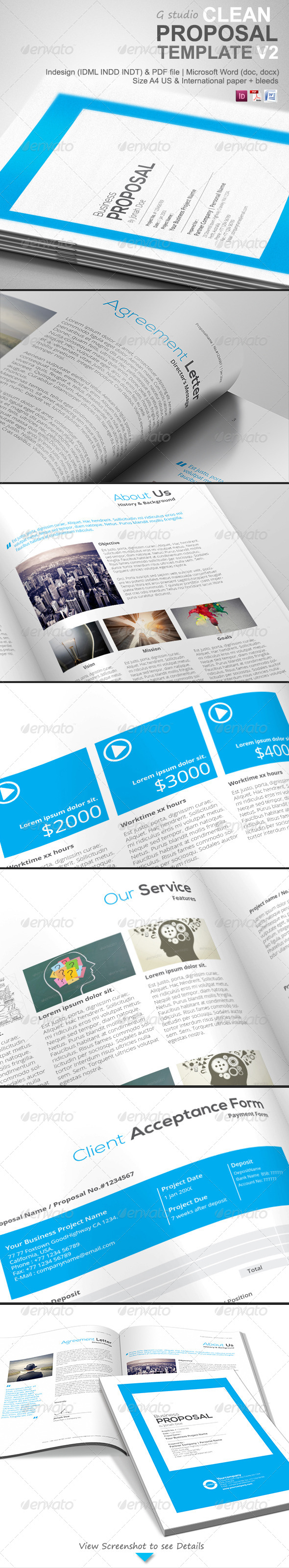 Gstudio Clean Proposal Template V2 - Proposals & Invoices Stationery