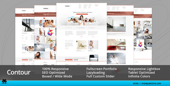 Contour – Minimal Portfolio & Corporate Template