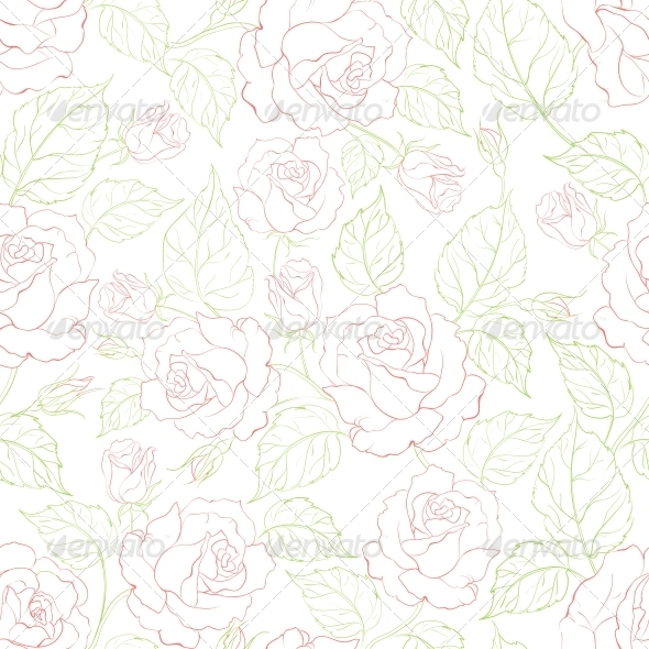 Rose Seamless Background - Flowers & Plants Nature