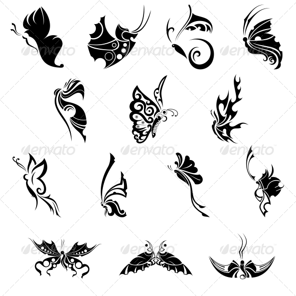 Decorative Butterflies Vector Pack - Animals Characters