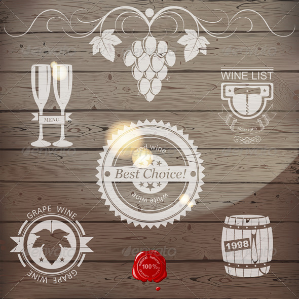 Wine Emblems - Miscellaneous Vectors