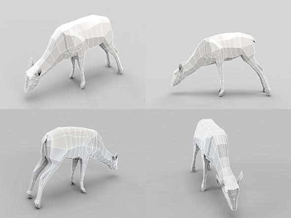Low Poly Mesh Deer - 3DOcean Item for Sale