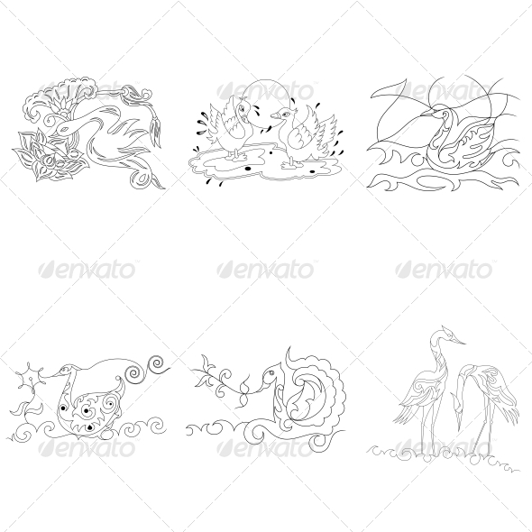 Artistic Birds Vector Pack - Animals Characters