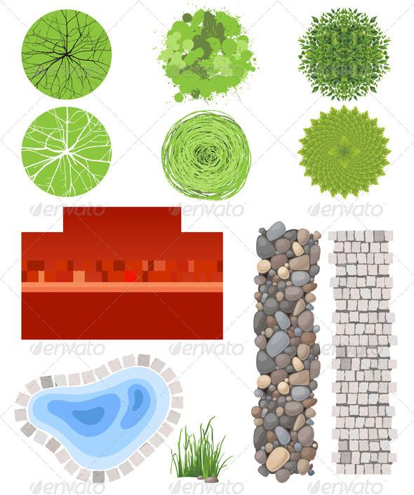 Landscape Design Elements - Nature Conceptual