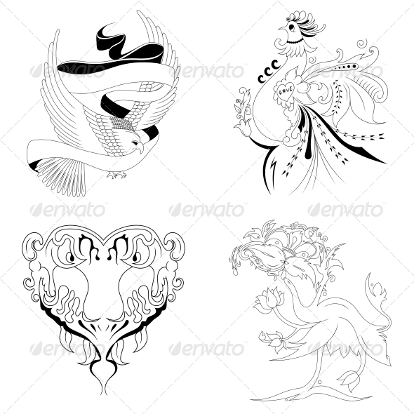 Artistic Elements Vector Set - Animals Characters