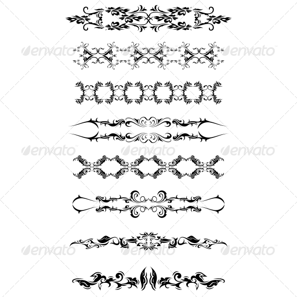 Artistic Bands Vector Pack - Flourishes / Swirls Decorative