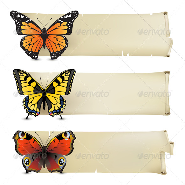 Butterfly Banners - Retro Technology