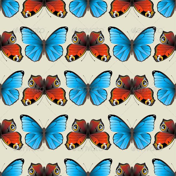 Seamless Butterfly Ornament - Patterns Decorative