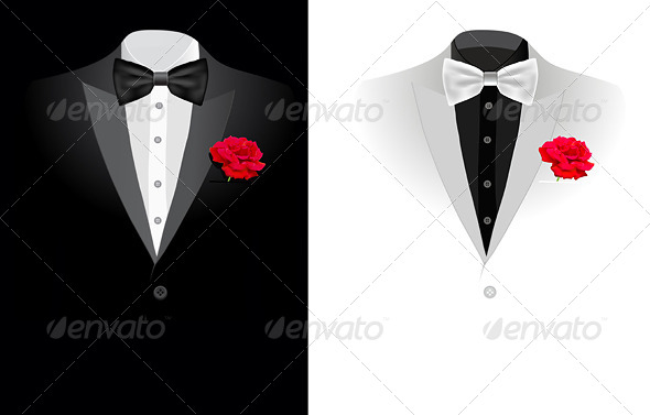 Vector Black Business Suit - Man-made Objects Objects