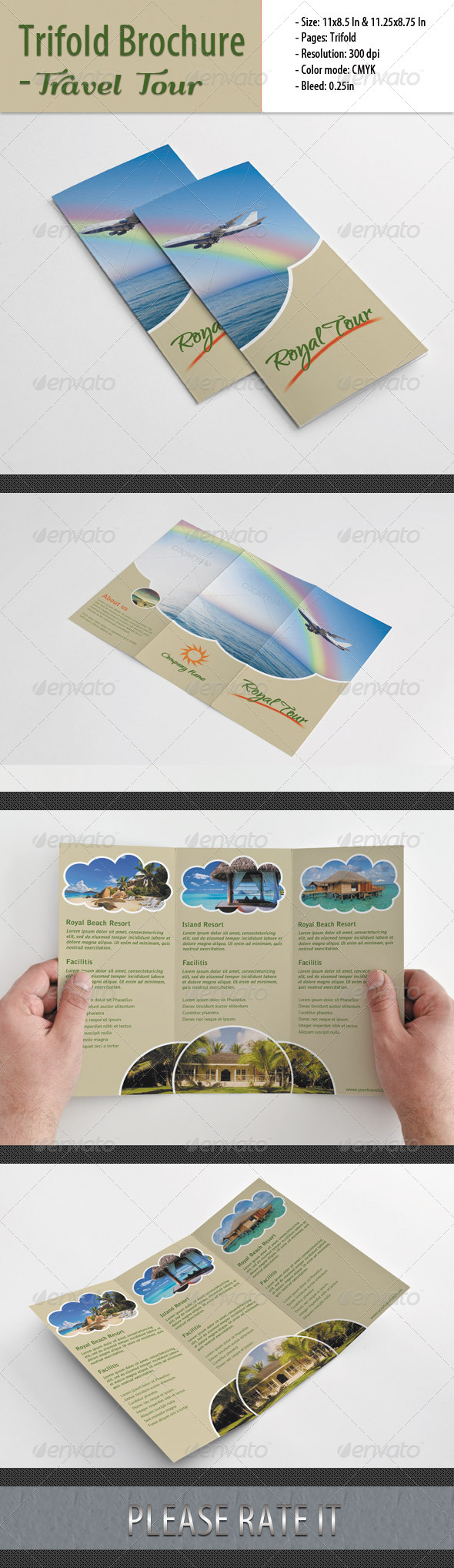 Trifold Brochure For Travel Tour - Corporate Brochures