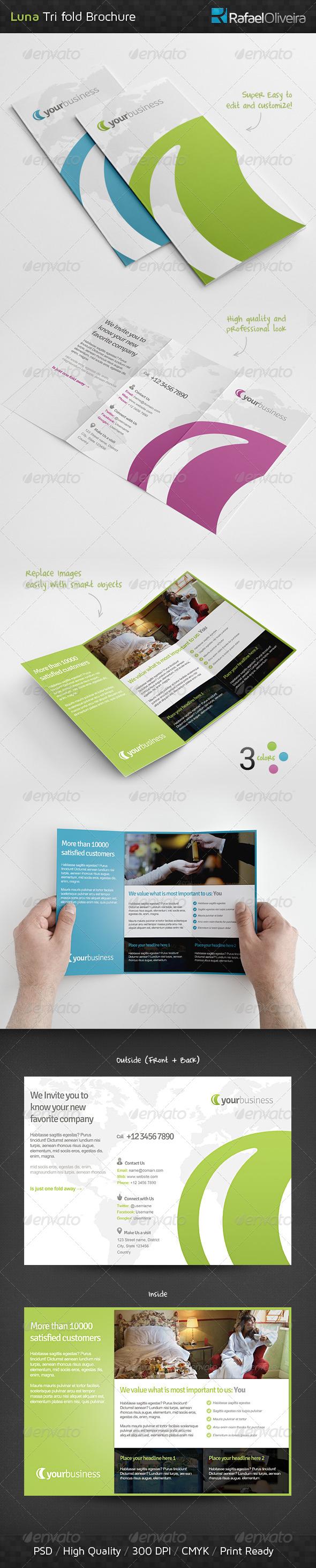 Luna Tri Fold Brochure - Corporate Brochures