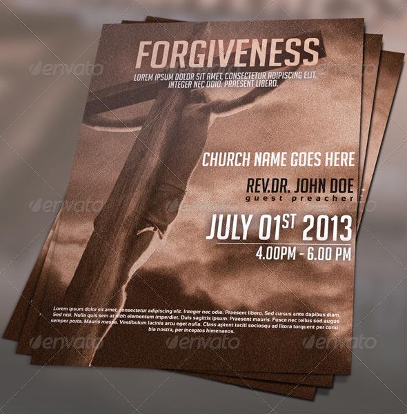 Forgiveness Church Flyer - Church Flyers