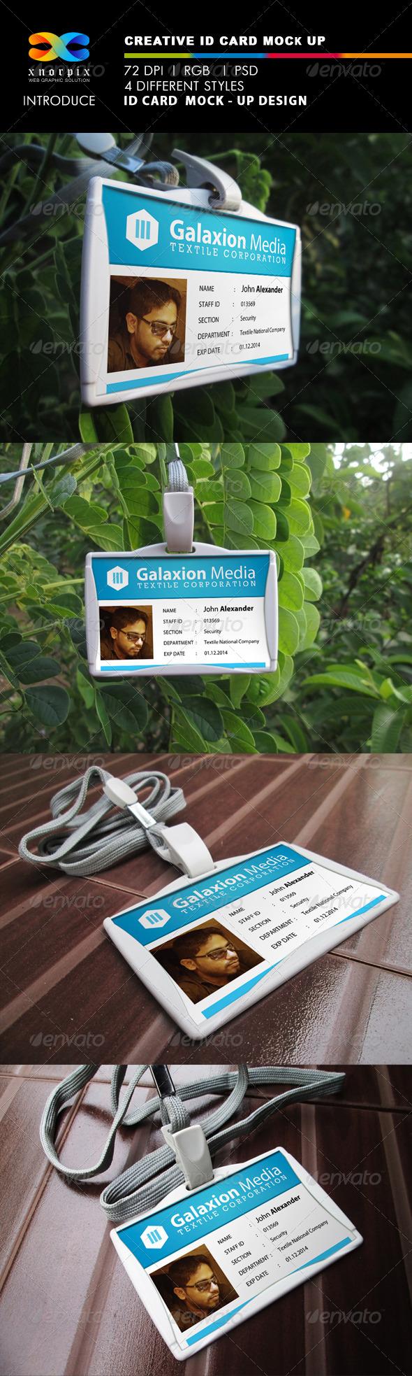 ID Card Mock-Ups - Miscellaneous Print