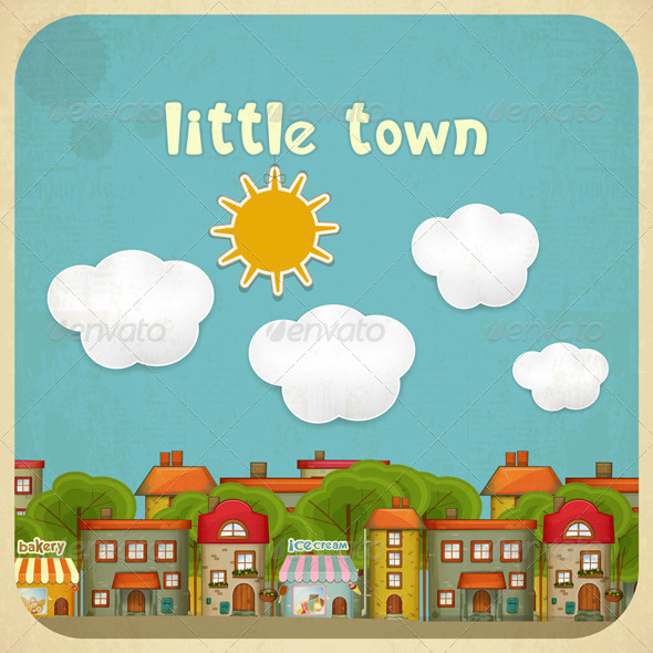 Little Town Color Houses - Buildings Objects