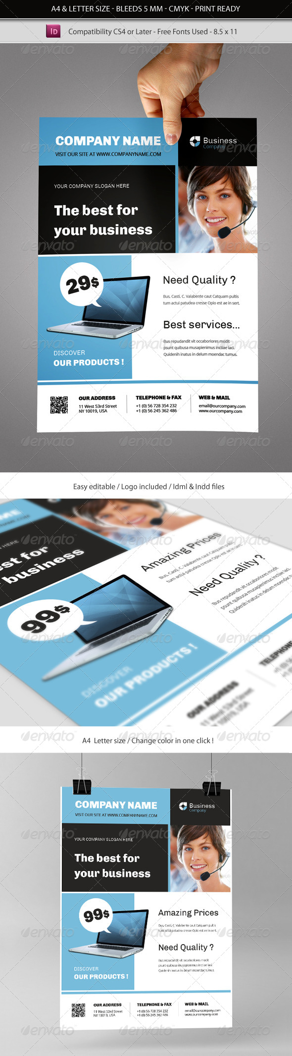 Multipurpose Commerce Flyer Indesign Template - Commerce Flyers