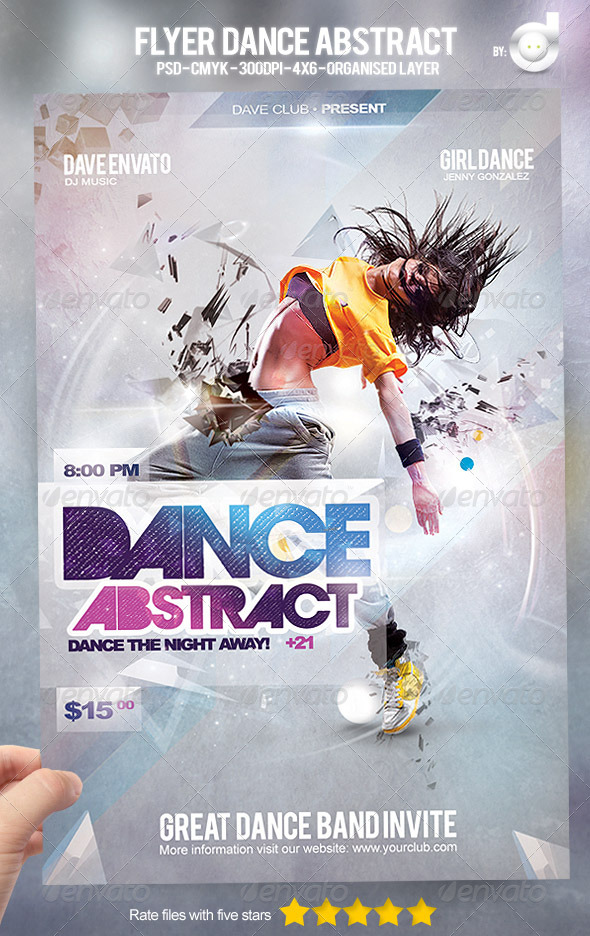 flyer dance abstract by david82flash graphicriver