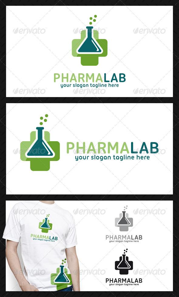 Pharmacy Cross Lab Logo Template - Objects Logo Templates