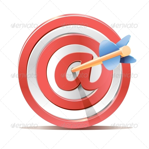 Red Darts Target Aim and Arrow - Sports/Activity Conceptual